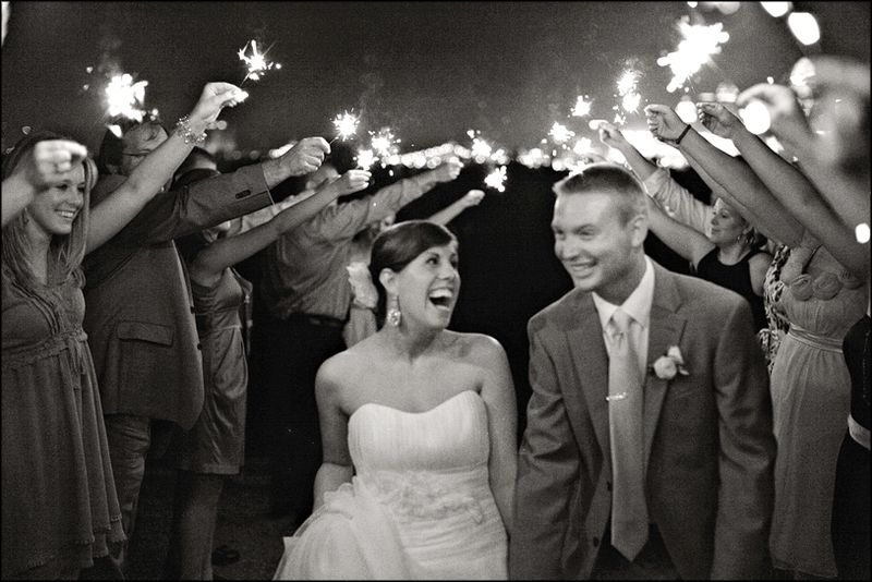 black_and_white_wedding_sparklers
