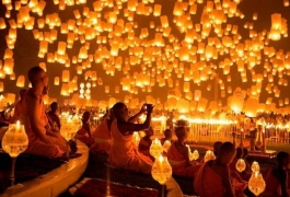 Large Sky Lantern Display