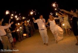 Wedding Sparklers on the Beach