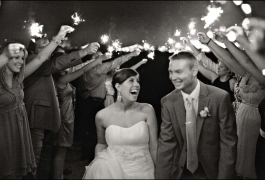 Wedding Sparkelrs in Black and White