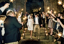 Wedding Sparklers at Casual Wedding