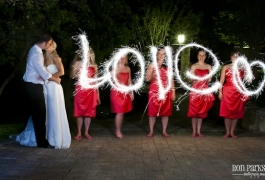 "Making ""LOVE\"" with Wedding Sparklers"