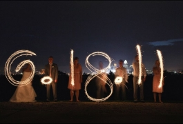 Making the Date with Wedding Sparklers