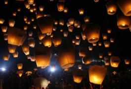 Sky Lanterns in the Sky