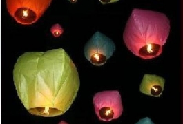 Colorful Sky Lanterns