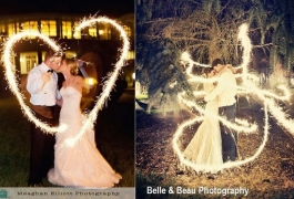Waving Shapes with Wedding Sparklers