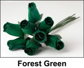 Forest Green Wooden Roses