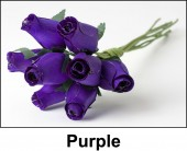 Purple Wooden Roses
