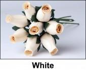 White Wooden Roses