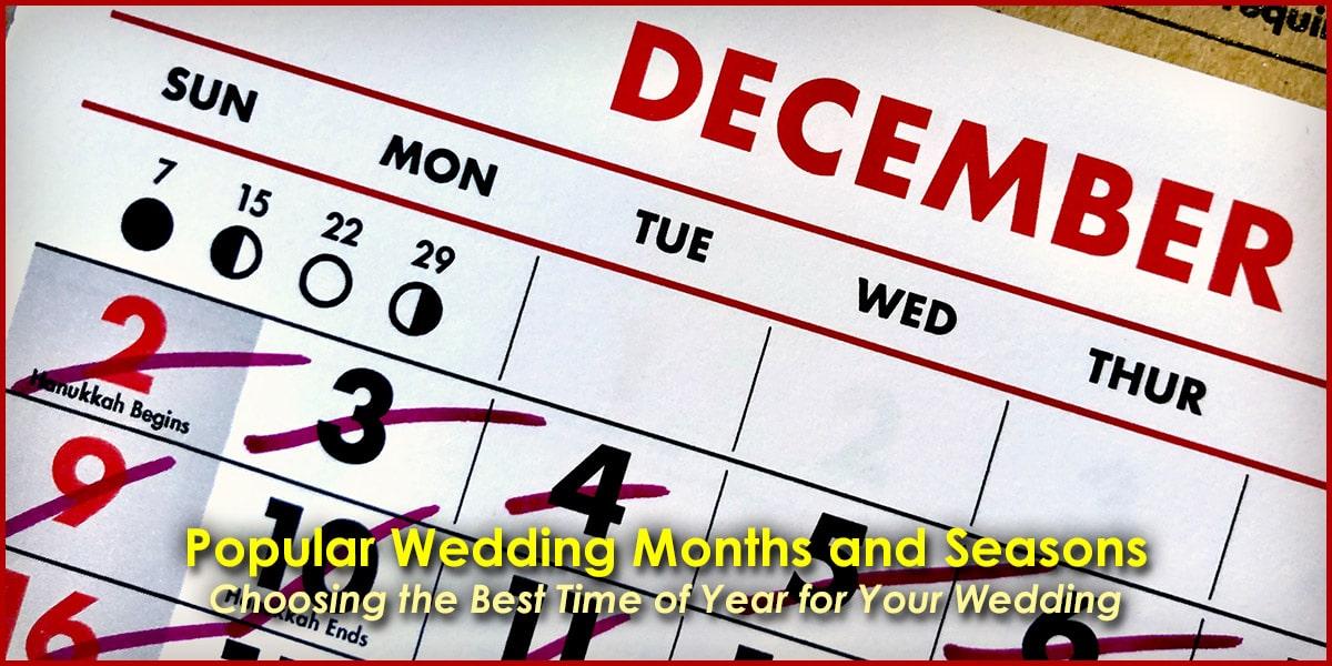 Popular Wedding Months and Seasons image