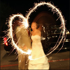 Neon Wedding Sparklers
