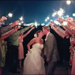 How to Use Sparklers at a Wedding Ceremony Finale image