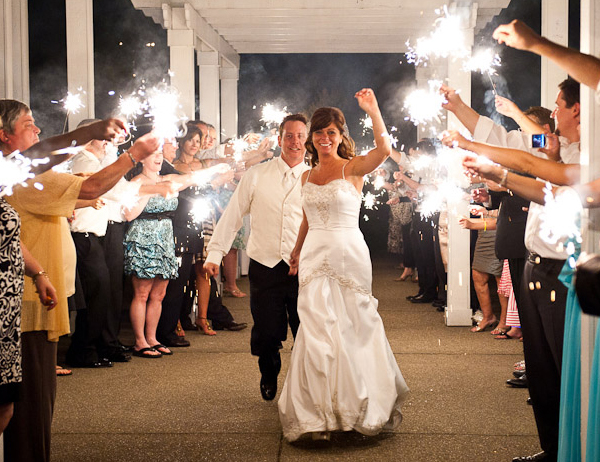 How to Use Sparklers at a Wedding Send-Off image