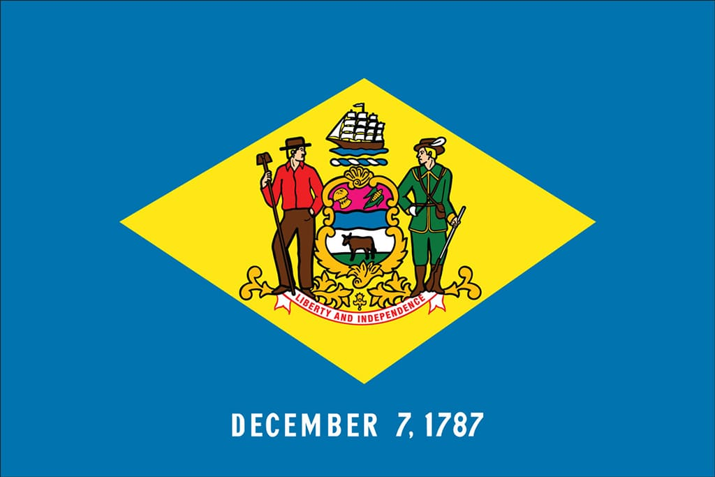 Image of Delaware's State Flag