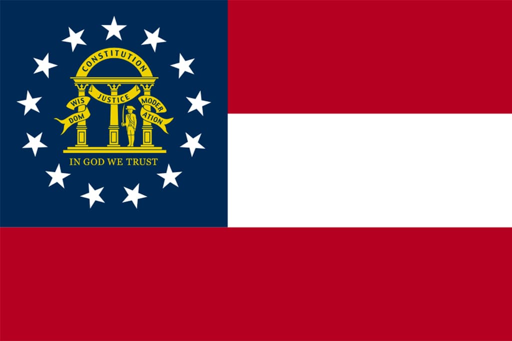 Image of Georgia's State Flag
