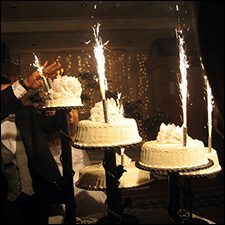 Wedding Cake Sparklers 1