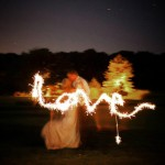 Writing Love With Wedding Sparklers