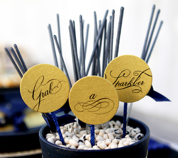 Creative Ways to Handout Wedding Sparklers image