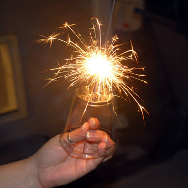 Image of a Cup Device for Protecting Children's Hands from Sparklers