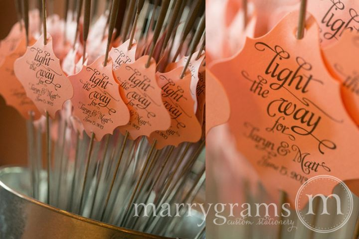 Wedding Sparkler Tags Iamge