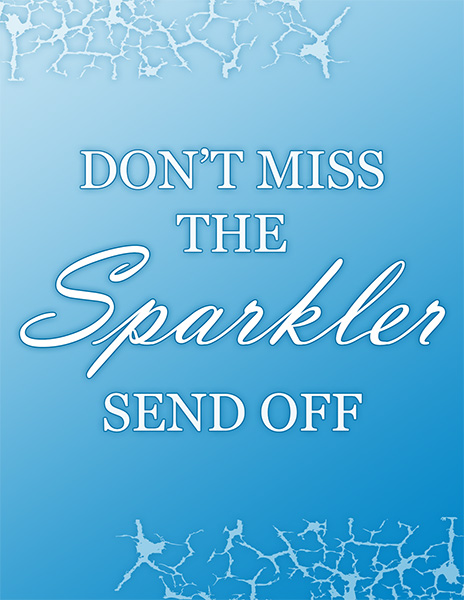 Wedding Sparkler Sign - Don't Miss the Send Off Image