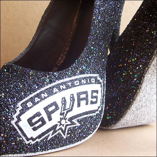 San Antonio Spurs Wedding Shoes image