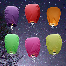 Color Shooting Star Sky Lanterns