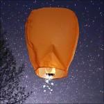 Orange Shooting Star Sky Lantern
