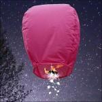 Pink Shooting Star Sky Lantern