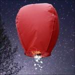 Red Shooting Star Sky Lantern