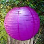 Violet LED Party Lantern