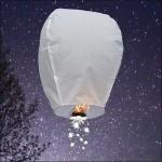 White Shooting Star Sky Lantern