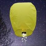 Yellow Shooting Star Sky Lantern