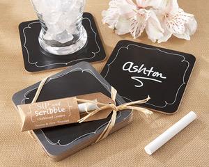 Chalkboard Coasters: A Fun Chalk Wedding Favor image