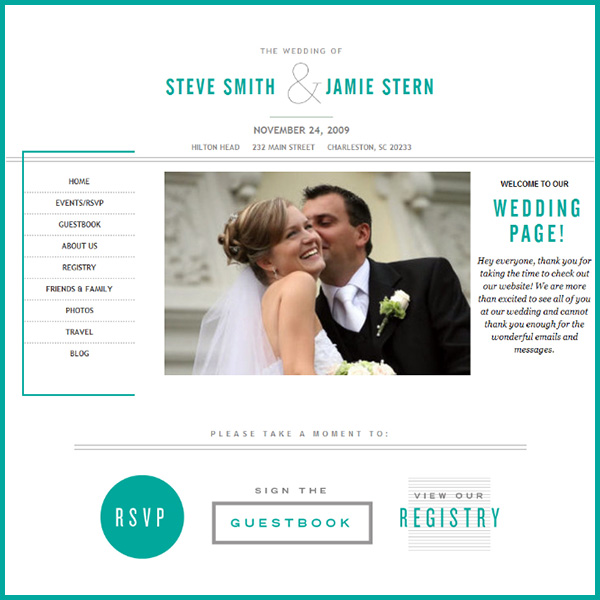 Building Your Wedding Website