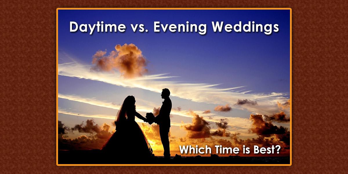 Daytime vs Evening Weddings image