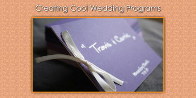 Wedding Program Ideas for Cool Creations image