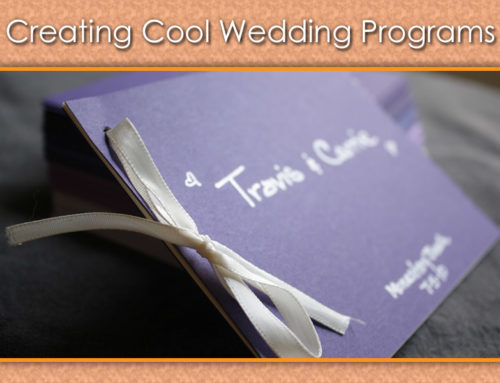 Cool Wedding Program Ideas