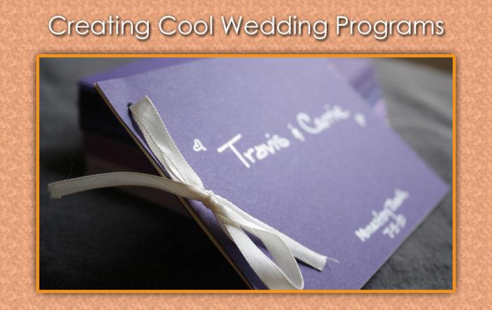 Wedding Program Ideas for Cool Creations image