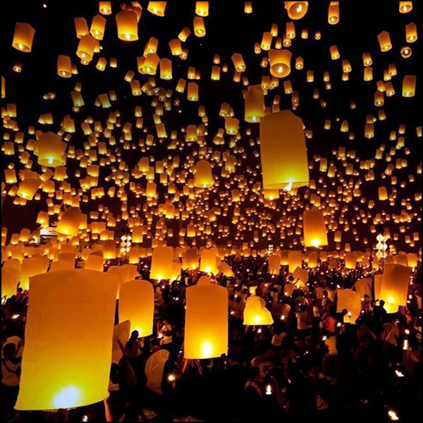 The Lantern Festival - Releasing Sky Lanterns image