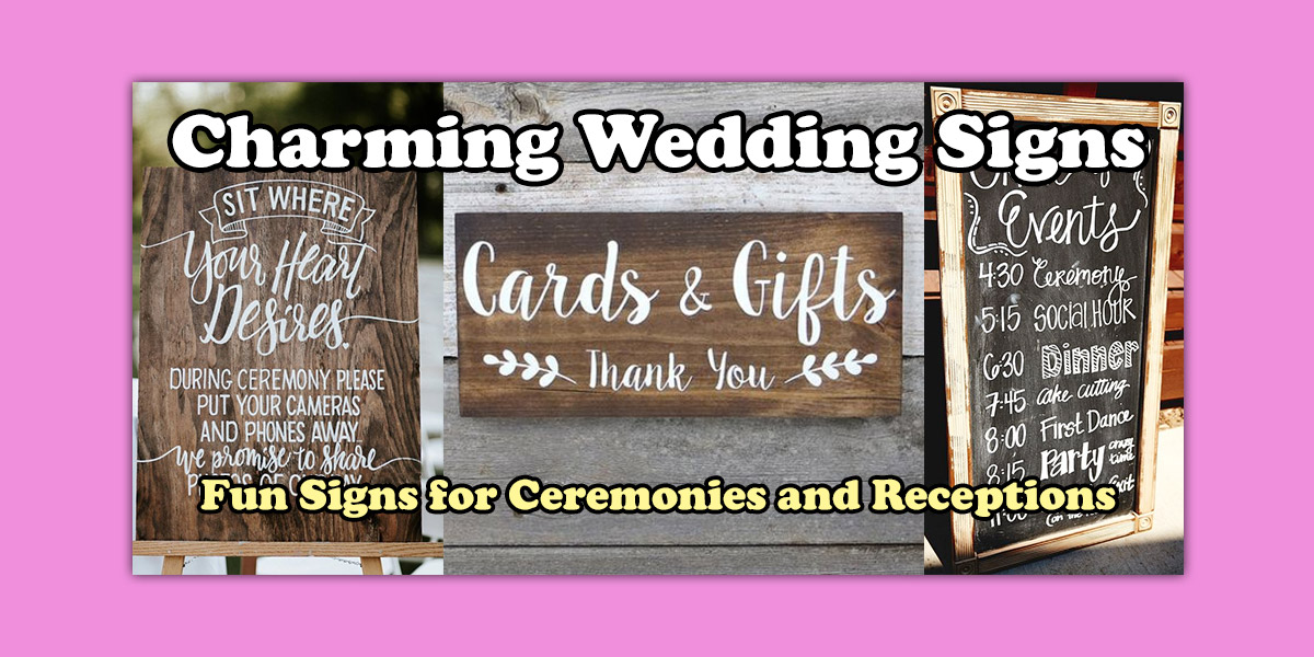 Ceremony and Reception Signs image
