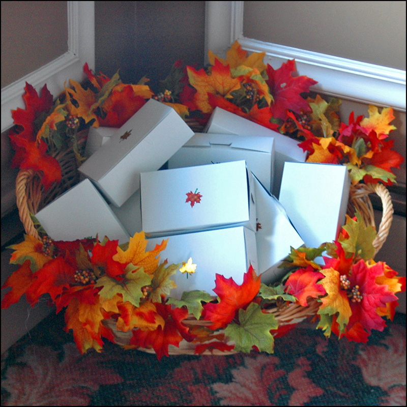 Fall Wedding Decoration Ideas with Leaves image