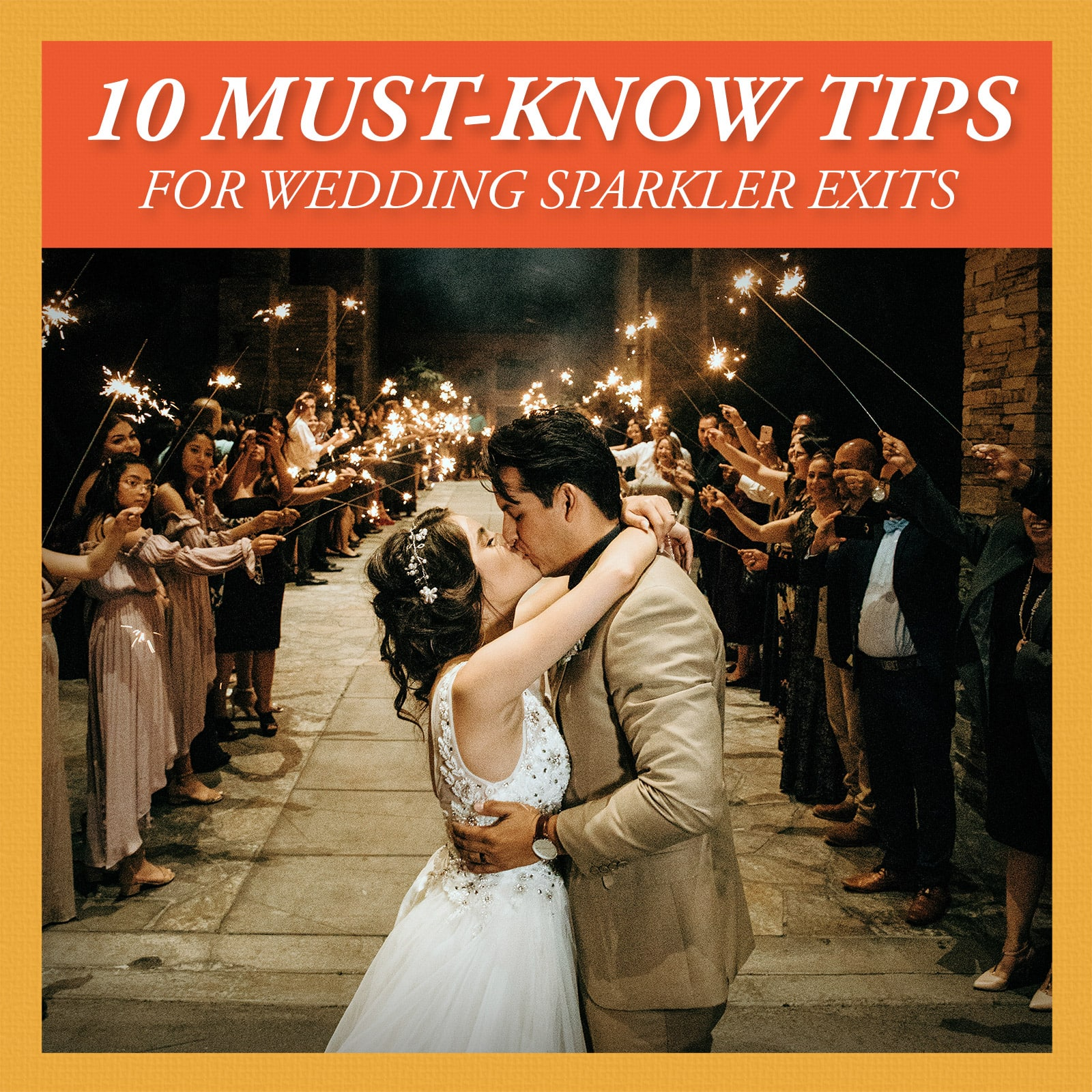 7 tips for wedding sparkler exits and send offs image