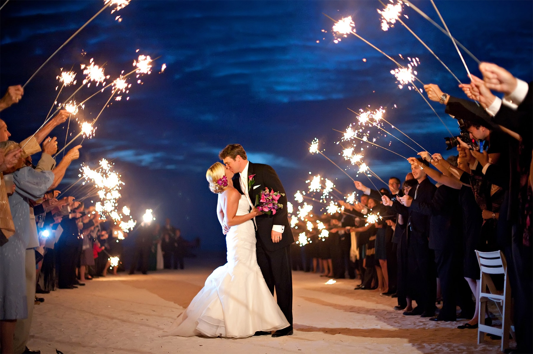 A Guide To Using Sparklers For Your Wedding Exit