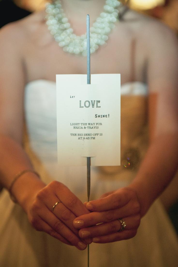 Personalized Wedding Sparklers Custom Sparkler Tags
