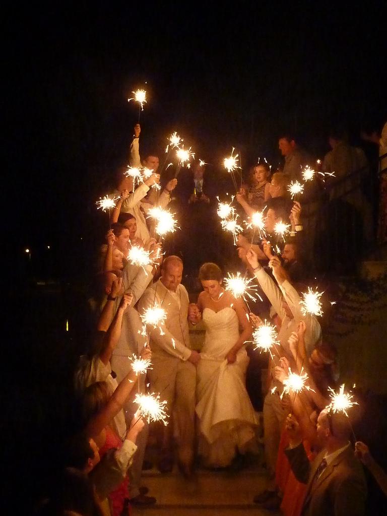Wedding Exit Sparkler Alternatives