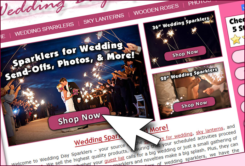 Ordering Sparklers for your Wedding image