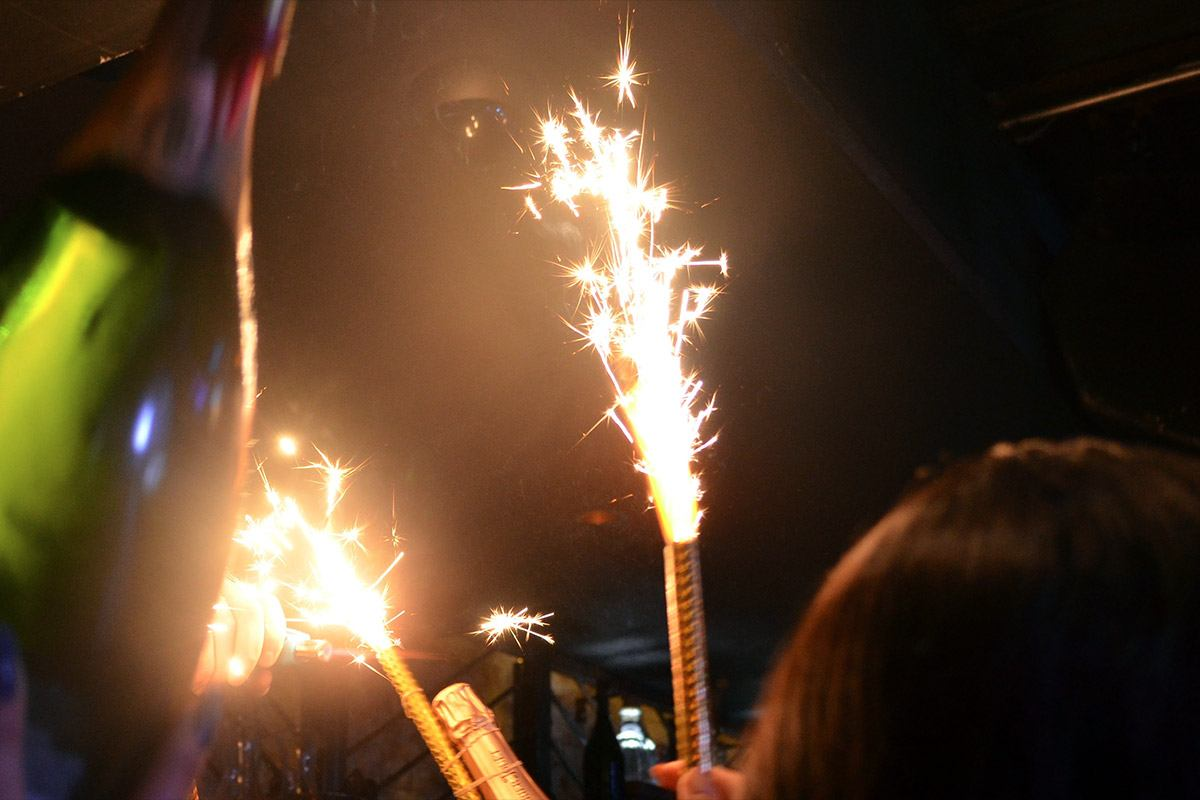 Bottle Sparklers in Action image