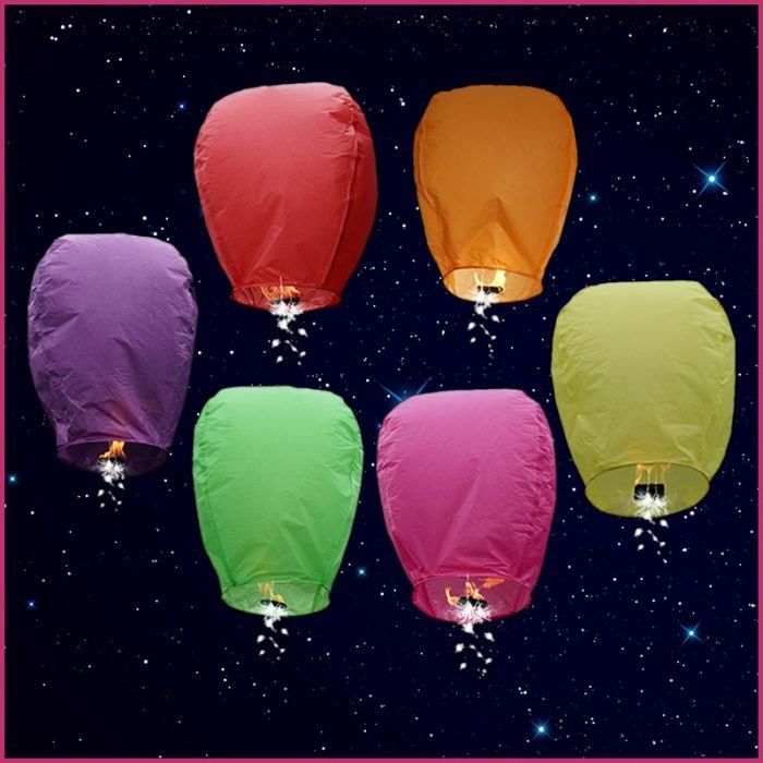 Color Shooting Star Sky Lanterns