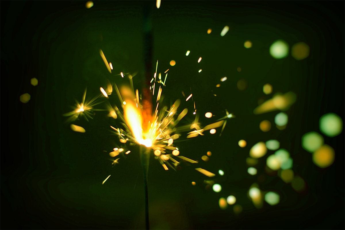 Green Color Sparkler